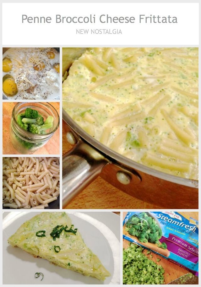 Penne Broccoli Cheese Frittata | New Nostalgia: Food | Pinterest