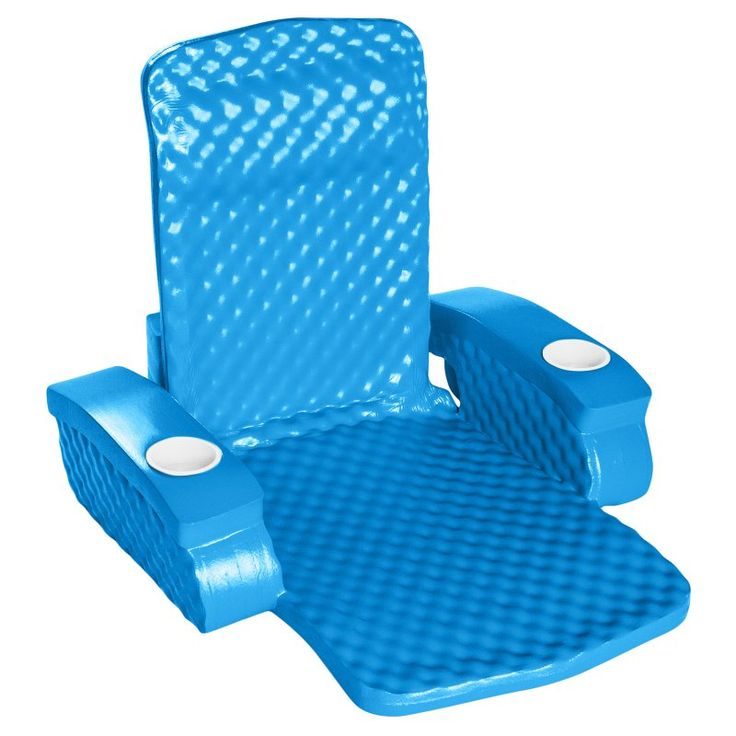 TRC Recreation Folding Baja Chair Foam Pool Float Blue - 6370126