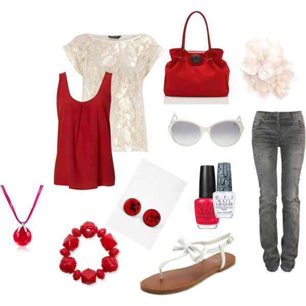 Dark Red and WhiteWhite Mi Style, Red Accessories, Red And White, Clothing, White Style, Thanksdark Red, Whitemi Style, Red Tanks, Random Pin