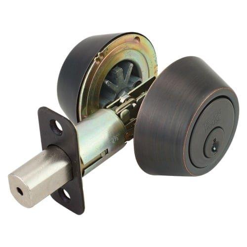 Design House 750760 Pro Double Cylinder Keyed Entry Deadbolt with Radius Corner, Grey metal