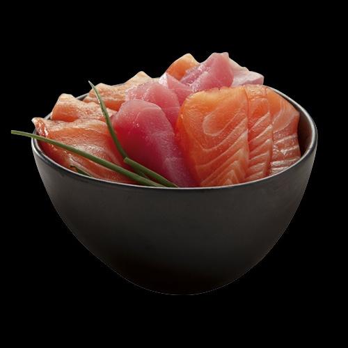 Łosoś, tuńczyk i  dorada/ Salmon, tuna and sea bream