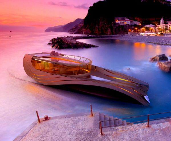 I don't even know if this yacht exists, or if it's just a concept, but if I had lots of millions of dollars, I would GET. IT.: Tulip Ocean, Yachts Concept, Dream Boats, Yachts Design, Concept Design, Luxury Yachts, Crono Yachts, Lorenzo Berselli, Modern Design