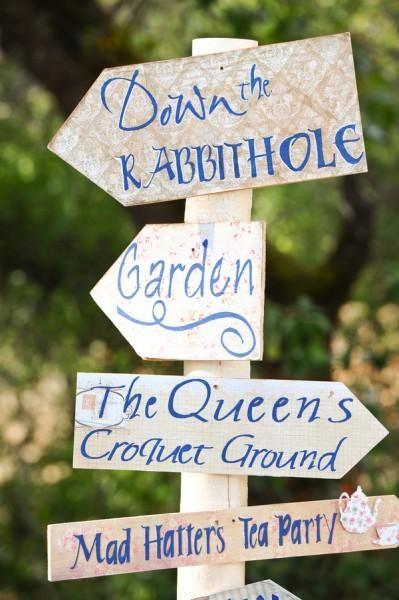 Lauren + Jason's DIY Alice In Wonderland Wedding - Weddbook