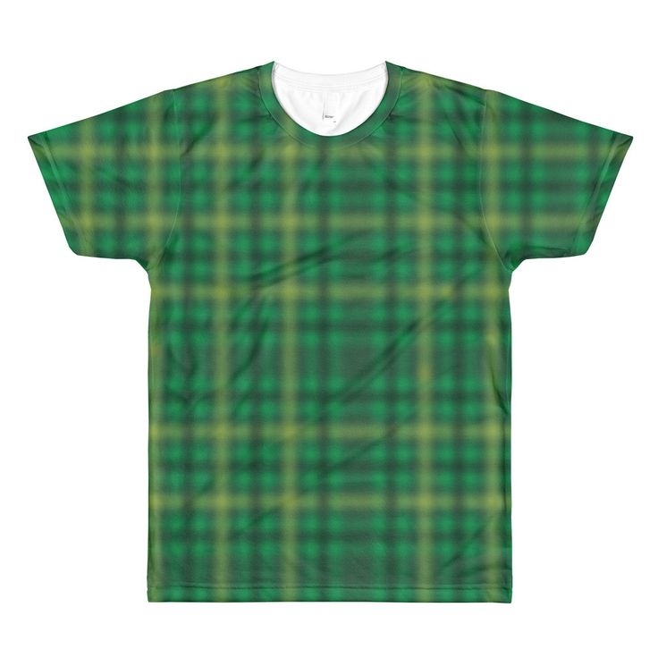 Green Irish Tartan Crewneck T-Shirt