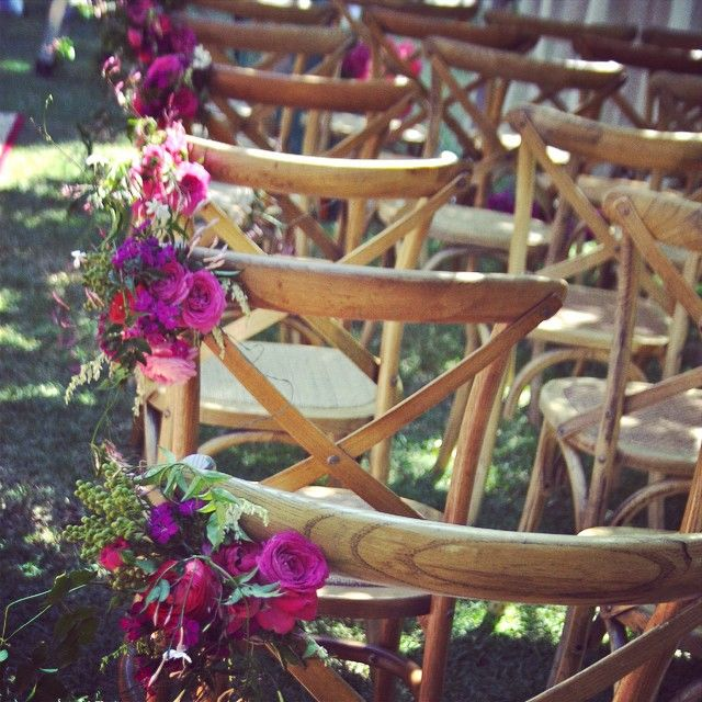 cross back timber chairs.. gorgeous!