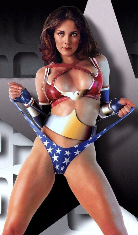 wonder woman ;-) Linda Carter at her best! (When did she do this photo shoot?!)