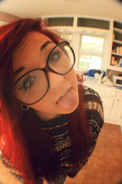Emo Girl With Glasses Emo Girls And Hair Pinterest