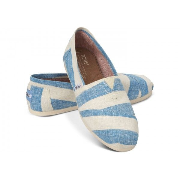 Blue And White Stripes Womens Classics