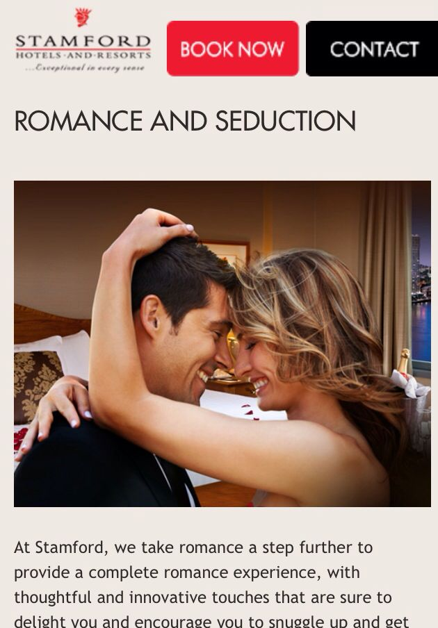 Romance and Seduction Package at a Stamford Plaza Hotel is Amazing