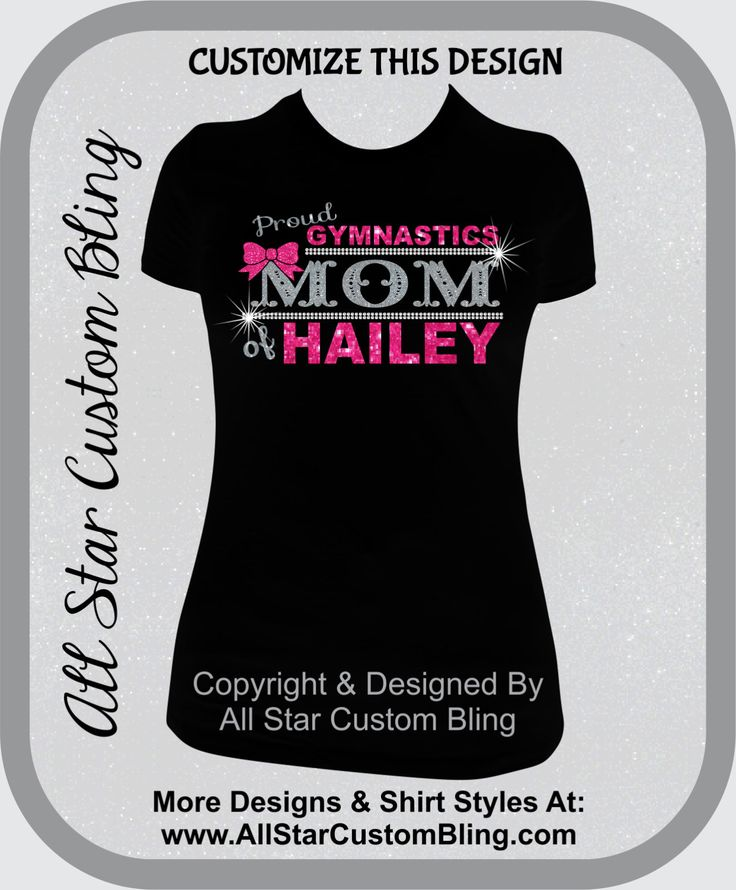 Custom Proud Gymnastics Mom Glitter and Bling Shirt, Gymnastic Mom Bling Shirts, Bling Gym Mom Shirts by AllStarCustomBling on Etsy