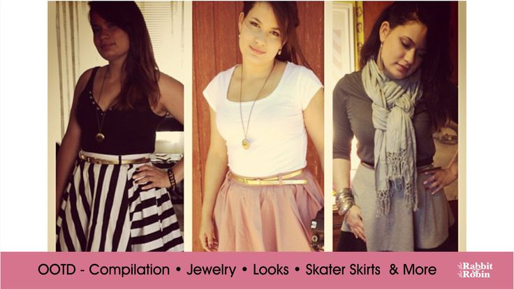 OOTD Compilation - Jewelry, Boots, Skater Skirts and More. http://www.youtube.com/user/rabbitandrobin  #skaterskirt #ootd #jewelry #honeysong #mrpricefashion