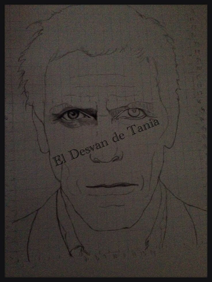 Paso 2 Hugh Laurie a lápiz! Eldesvandetania.blogspot.com Facebook: el desvan de Tania  Twitter @El Desván De Tania