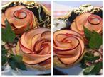 Apfel-Tartelettes in Rosen Form