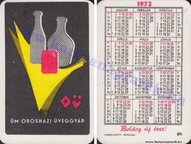 1972 - 1972_0626 - Régi magyar kártyanaptárak