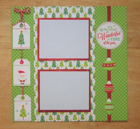 Christmas Scrapbook Page - Christmas Scrapbook Layout - 12 x 12 Scrapbook - Christmas Day - Christmas Eve - Christmas Morning - Xmas Photos  AngelBDesigns4You