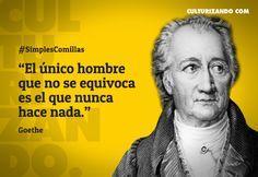 Grandes frases de Goethe - culturizando.com | Alimenta tu Mente
