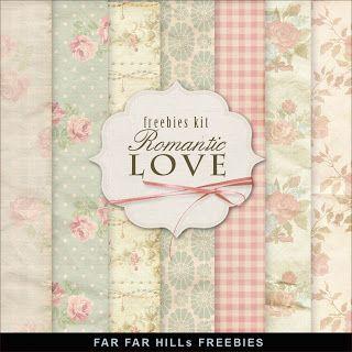 New Freebies Romantic Backgrounds Kit