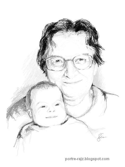 Digitális portré rajz készítés - Portrait drawings: Galéria