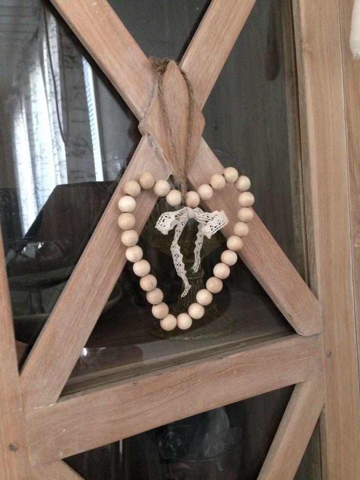 Puuhelmistä sydän <3 #diy #heart