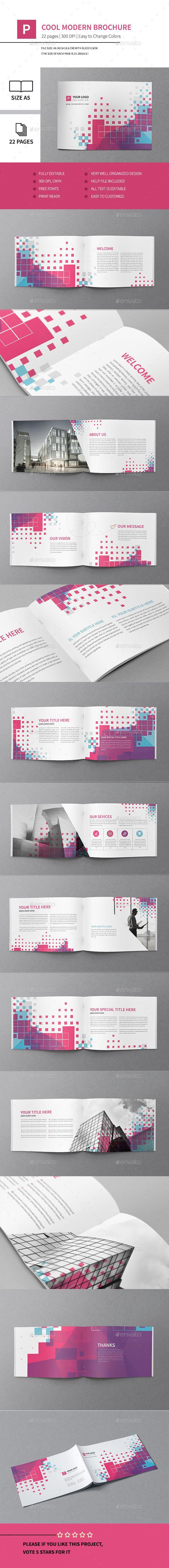 Cool Modern Brochure Template PSD #design Download: http://graphicriver.net/item/cool-modern-brochure/13265711?ref=ksioks