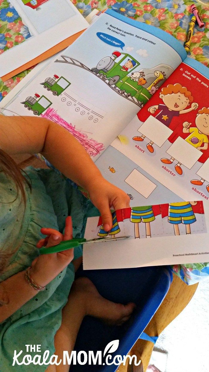 Preschool MathSmart Activities are a fun way to introduce math concepts and workbook to children. My 3-year-old loved doing her new math workbooks!