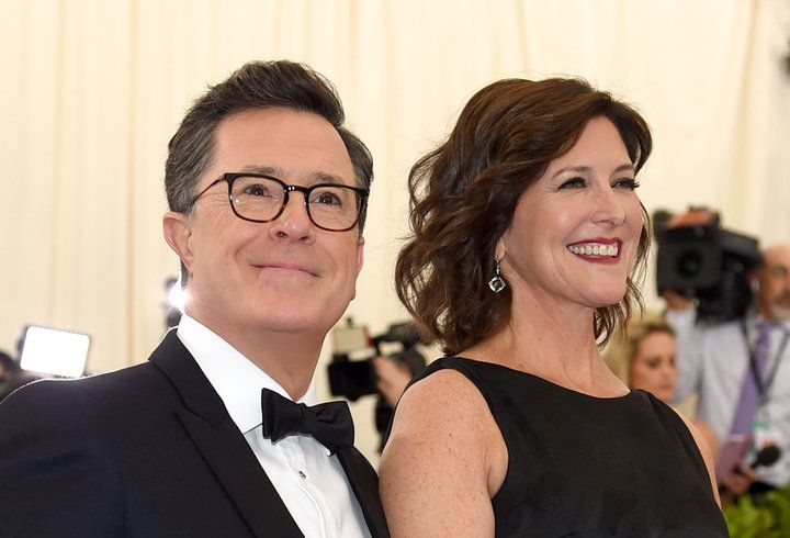 Stephen Colbert's Wife Gushes About Her 'Sexy' Husband At Met Gala