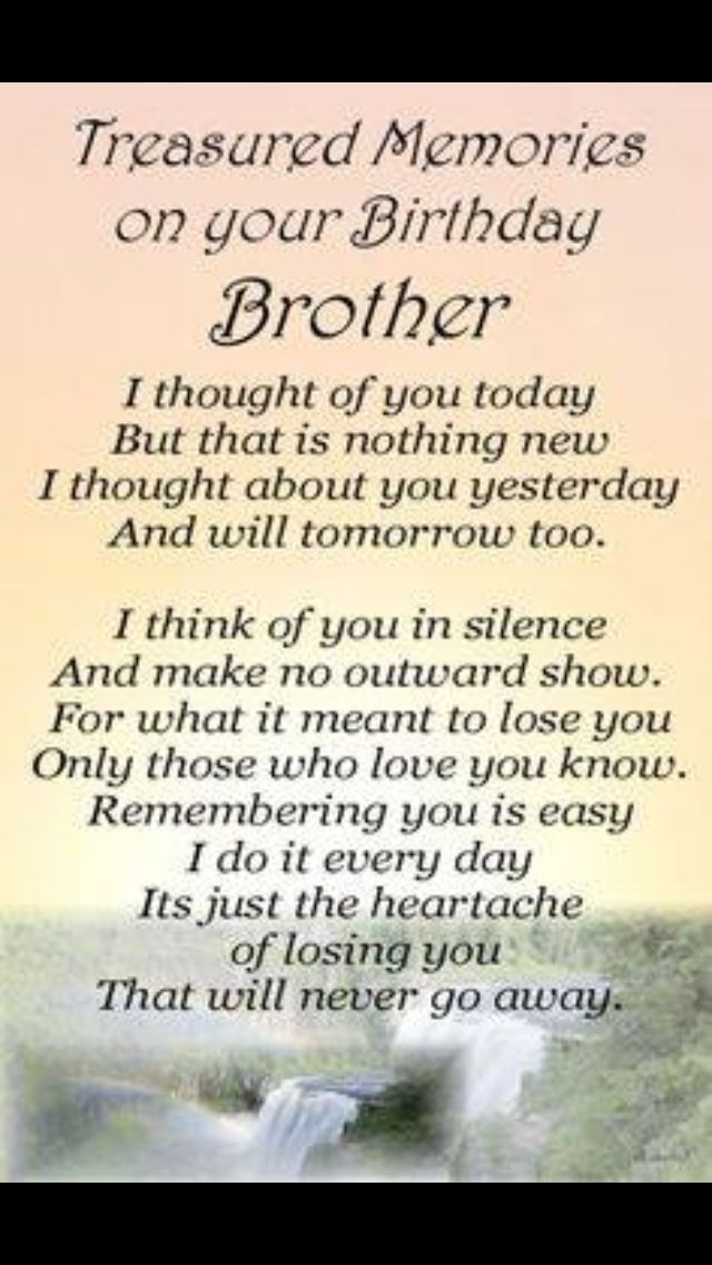 Imagenes De Birthday Wishes To A Brother In Heaven