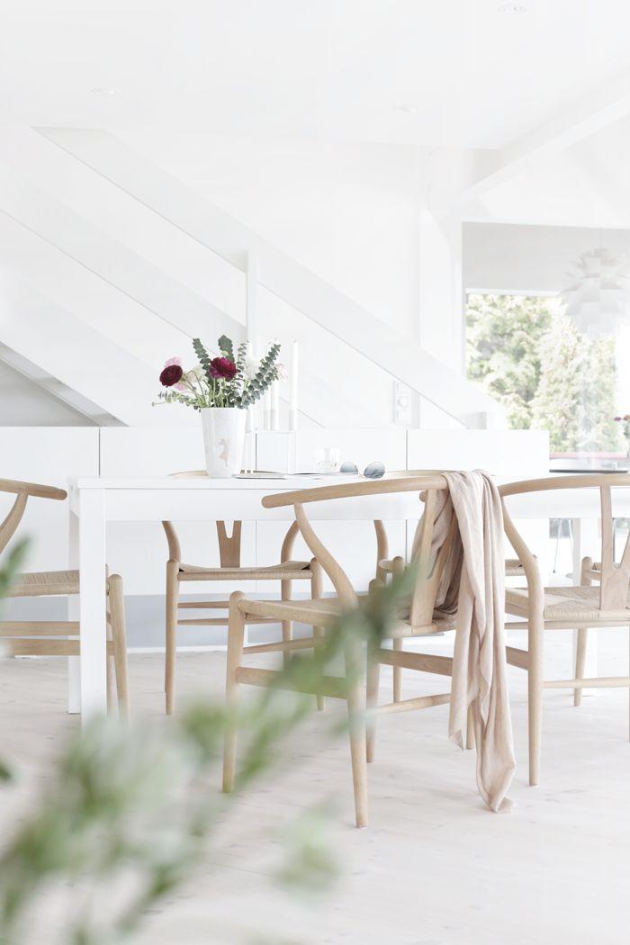 Living room, stylizimo house, wishbone chair