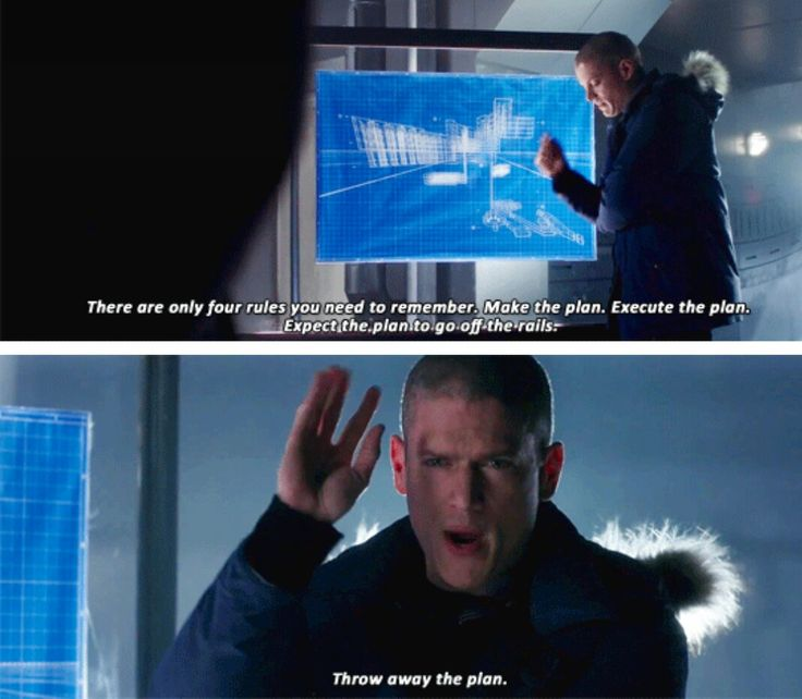 """""""Make the plan. Execute the plan. Expect the plan to go off the rails. Throw away the plan"""" - Leonard Snart #TheFlash"""