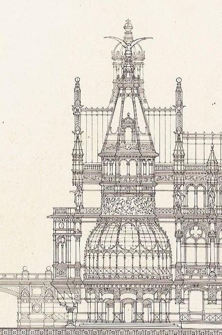 ✽   otto schmalz (german)  -  design for a royal summer residence  -     1886
