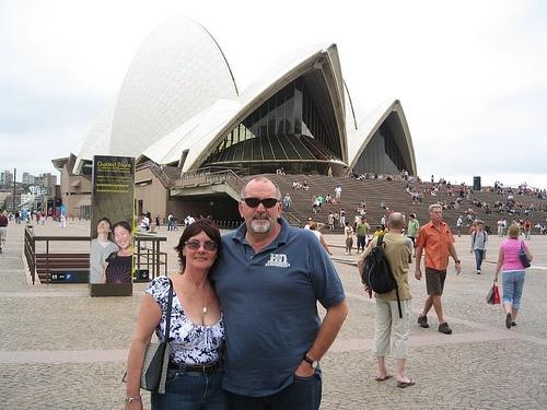 Bob & Claude At Sydney Opera House, via Flickr.