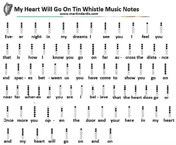 my heart will go on tin whistle - Google Search