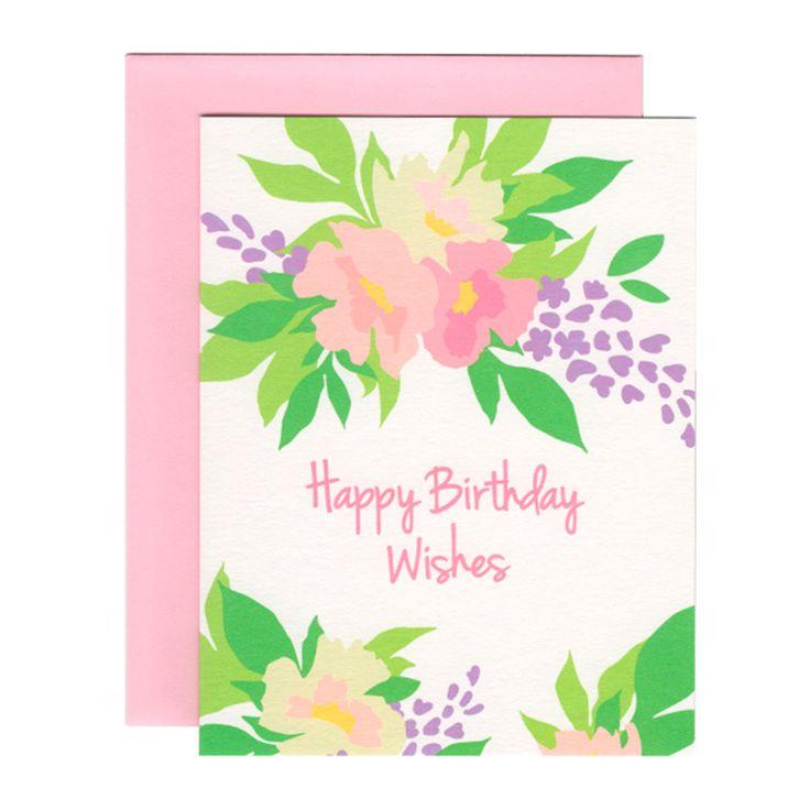 PEONY HAPPY BIRTHDAY WISHES greeting card