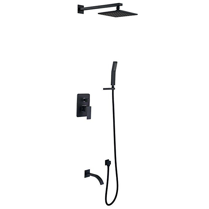 Himylen Bathroom Shower Faucet System Brass 8 Square Showerhead