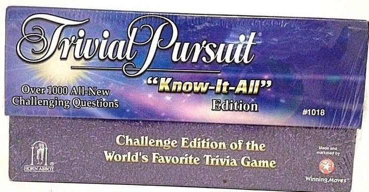 Trivial Pursuit Know it All Edition Challenge Edition 1998 - 1000 New Questions  #ParkerBrothers
