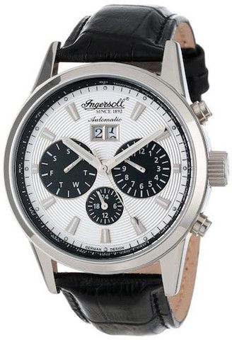 Ingersoll IN1214SL Gatsby Men's Watch Automatic Silver Dial Black Leather Strap http://www.thesterlingsilver.com/product/boss-orange-mens-watch-xl-london-xxl-analogue-quartz-stainless-steel-1513114/