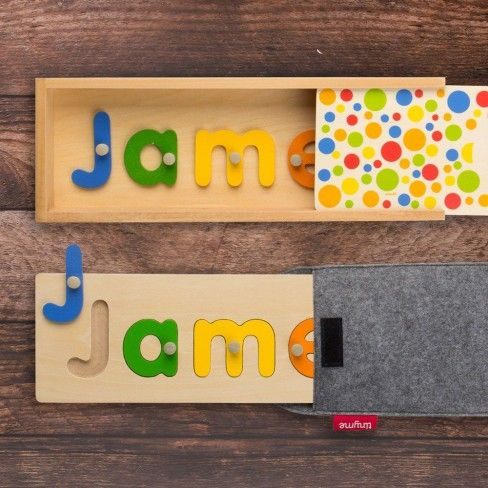 Personalised Wooden Name Puzzle ~ tinyme