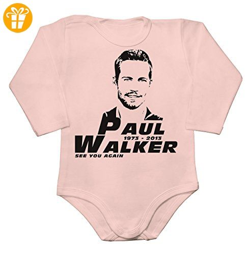 Paul Walker RIP See You Again Baby Long Sleeve Romper Bodysuit Large - Baby bodys baby einteiler baby stampler (*Partner-Link)