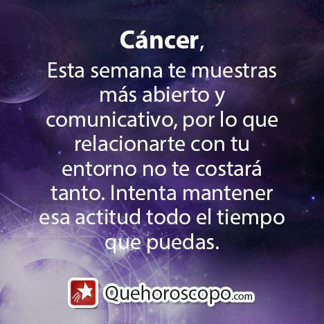 #Horoscopo #Signo #Amor #Trabajo #Astros #Predicciones #Futuro #Horoscope #Astrology #Love #Jobs #Astrology #Future   http://www.quehoroscopo.com/horoscopodehoy/cancer.html