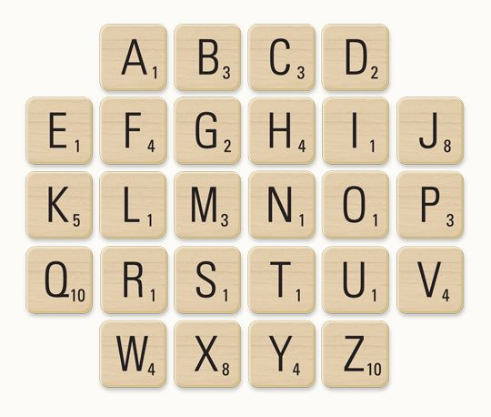 Well here's her free scrabble letter download so you can print them out and have some fun with a classic favourite board game!