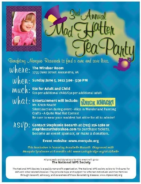 Mad Hatter Tea Party Fundraiser - What a cute idea!
