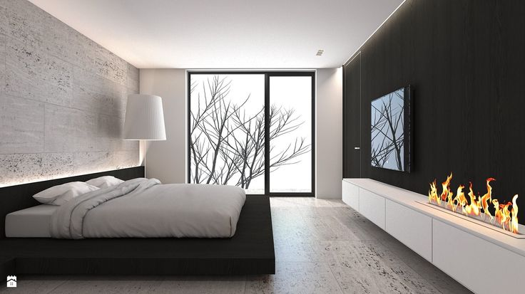 Sypialnia styl Minimalistyczny - zdjęcie od A2 STUDIO pracownia architektury - Sypialnia - Styl Minimalistyczny - A2 STUDIO pracownia architektury