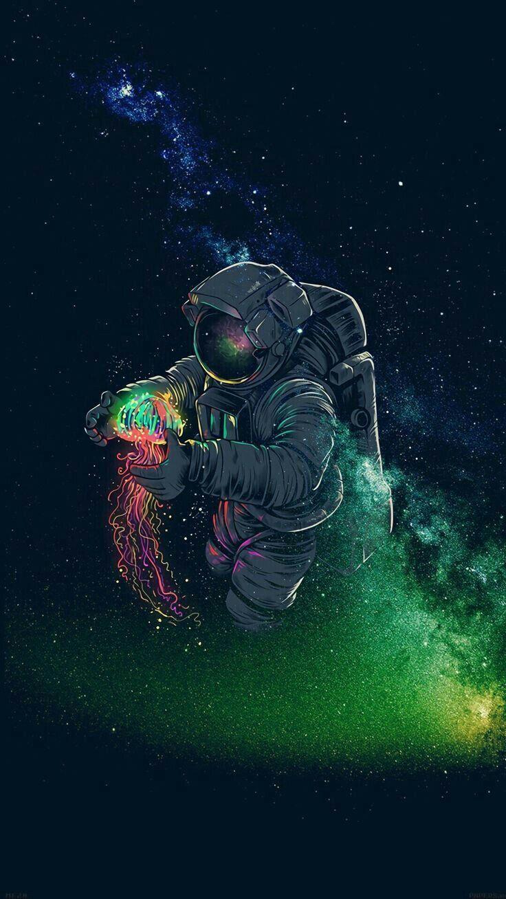 Best Free Astronaut Phone Wallpapers Backgrounds Cool Illyustraciya Kosmosa Illyustracii Nabroski