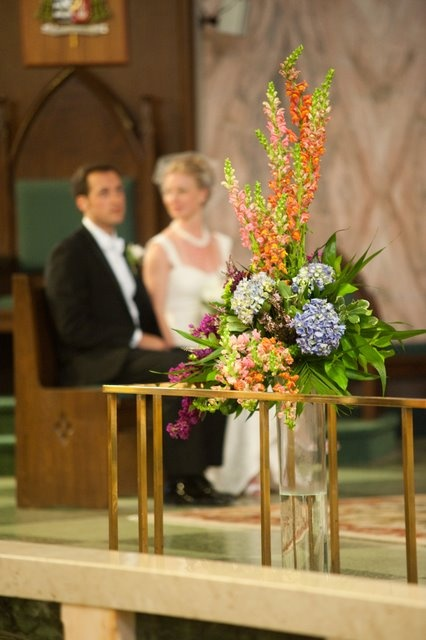 Wedding Flower Arrangement for Ceremony... by Narcissus Florals