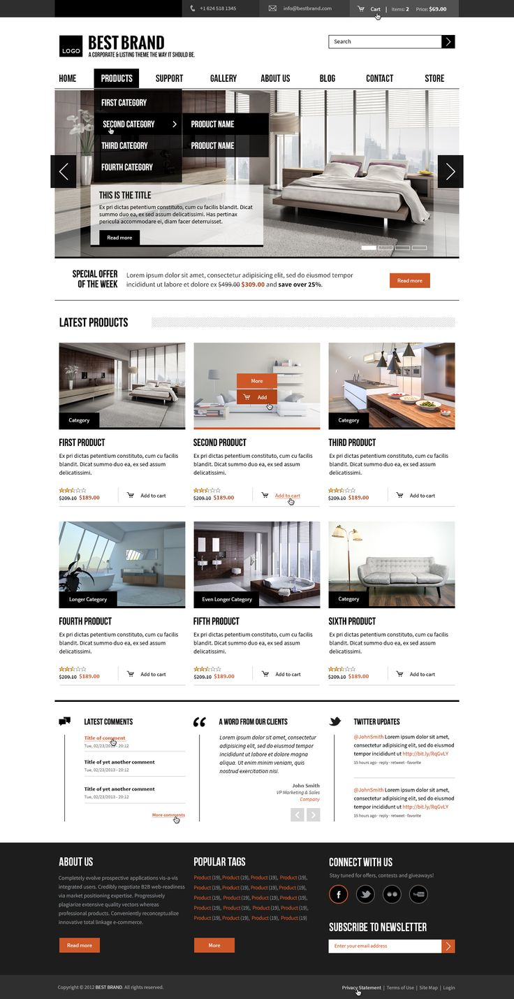 BEST BRAND  CORPORATE. LISTING. MULTI-PURPOSE.   Responsive, flexible & carefully crafted to the last detail. Focused on helping you present your products & services.    More information: http://www.morethanthemes.com/?q=themes/bestbrand