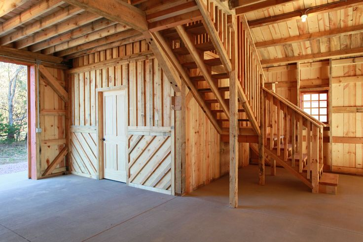 Loft Stairs In A Wood Barn Sand Creek Post Beam Https