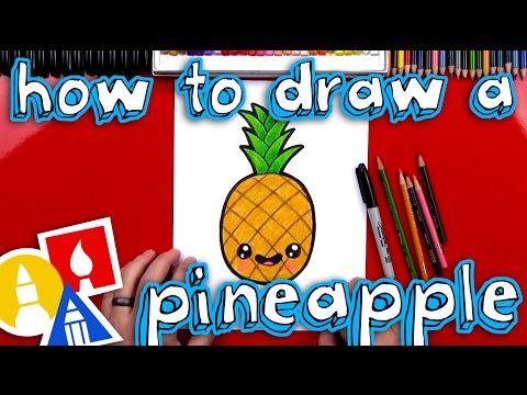 nice How To Draw A Cartoon PIneapple