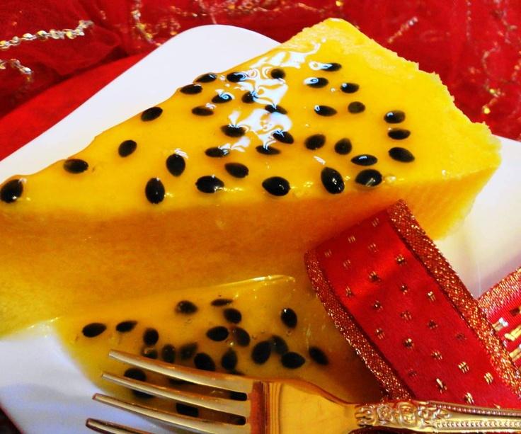 Mango Passion Dessert (mango dessert met passie-amandel saus)