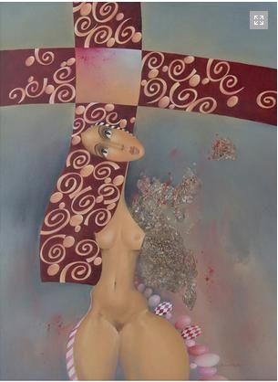 """Obrazy / Obrazy  na plátně - umělecké obrazy  - od českých výtvarníků - reprodukce obrazy -""""Venuše"""" - obrazy do bytu"""