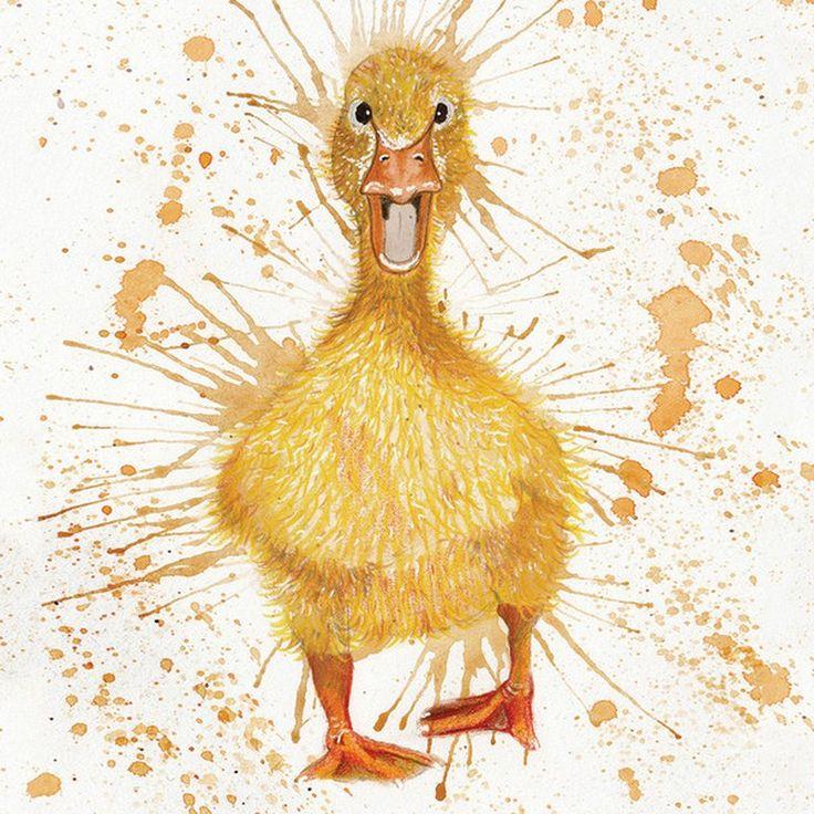 Designerkissen von WRAPTIOUS Artwork - Splatter Duck - Deko Unlimited - Exklusive Geschenke & Dekoration, 29,95 €